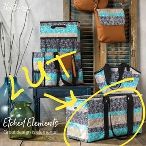 Large utility totes- Thirty-one -Etched elements